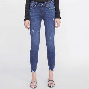 Zara Trafaluc Raw Hem Skinny Jeans